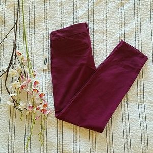 NWT Old Navy Purple Mid-rise Pixie Ankle Pants